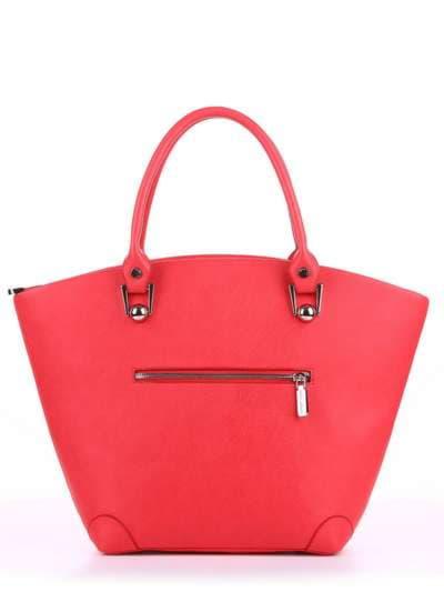 Летняя сумка, модель 180162 красный алый. Фото товара, вид дополнительный.