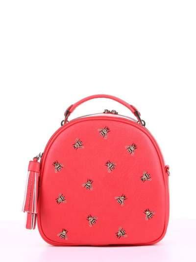 Модная сумка, модель 180172 красный алый. Фото товара, вид спереди._product-ru
