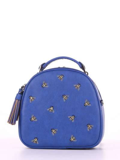 Брендовая сумка, модель 180175 синий. Фото товара, вид спереди.