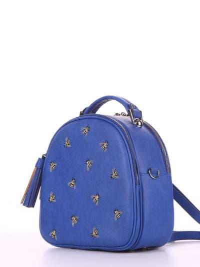 Брендовая сумка, модель 180175 синий. Фото товара, вид сбоку.