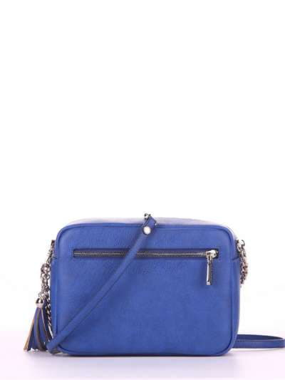 Стильная сумка, модель 180185 синий. Фото товара, вид сзади.
