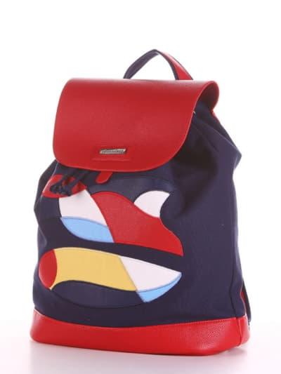 Летний рюкзак, модель 190061 синий. Фото товара, вид сбоку.