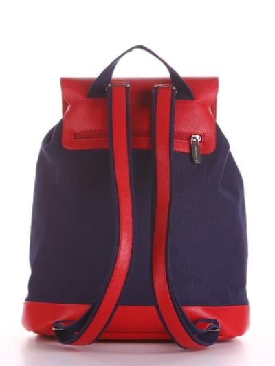 Летний рюкзак, модель 190061 синий. Фото товара, вид сзади.