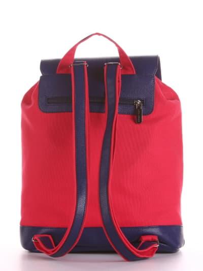 Женский рюкзак, модель 190062 красный. Фото товара, вид сзади.