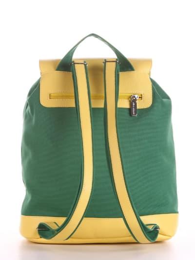 Летний рюкзак, модель 190063 зеленый. Фото товара, вид сзади.