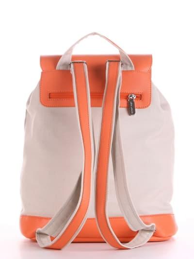 Брендовый рюкзак, модель 190065 светло-серый. Фото товара, вид сзади.
