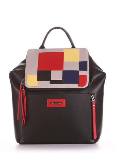 Летний рюкзак, модель 190071 черный. Фото товара, вид спереди.
