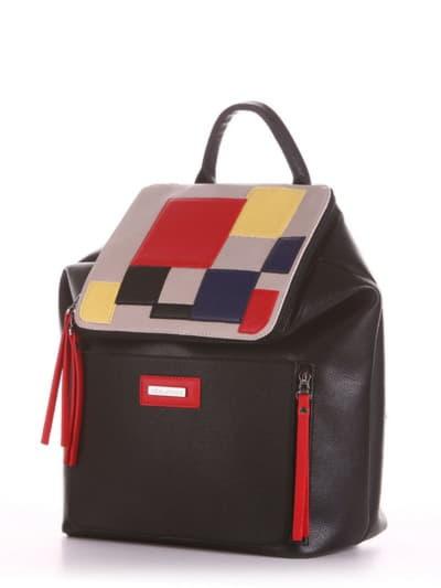 Летний рюкзак, модель 190071 черный. Фото товара, вид сзади.