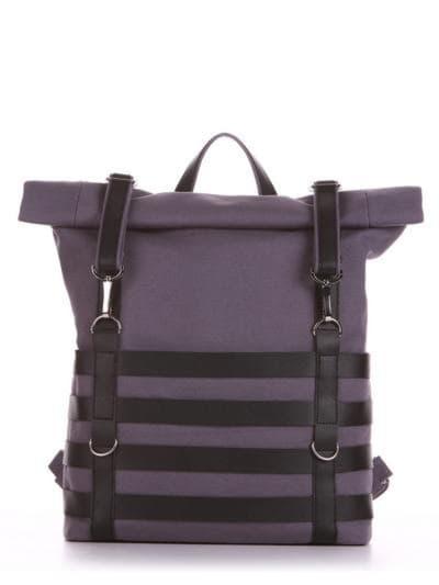 Женский рюкзак, модель 190183 серый. Фото товара, вид спереди.