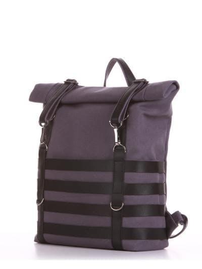 Женский рюкзак, модель 190183 серый. Фото товара, вид сбоку.