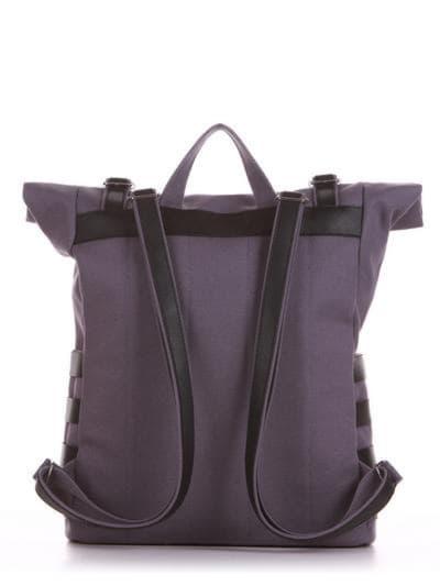 Женский рюкзак, модель 190183 серый. Фото товара, вид сзади.