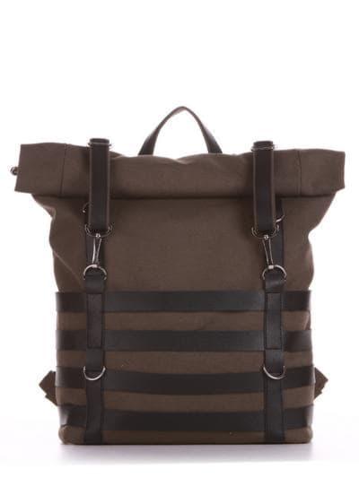 Женский рюкзак, модель 190185 хаки. Фото товара, вид спереди.