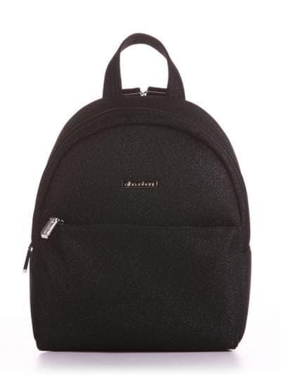Стильный рюкзак, модель 190311 черный. Фото товара, вид спереди.