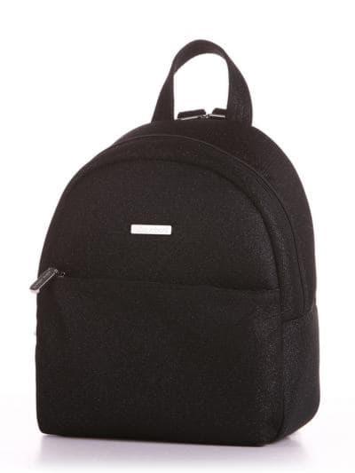 Стильный рюкзак, модель 190311 черный. Фото товара, вид сбоку.
