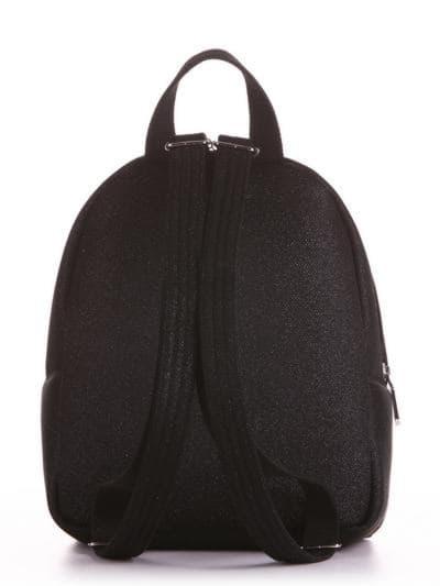 Стильный рюкзак, модель 190311 черный. Фото товара, вид сзади.