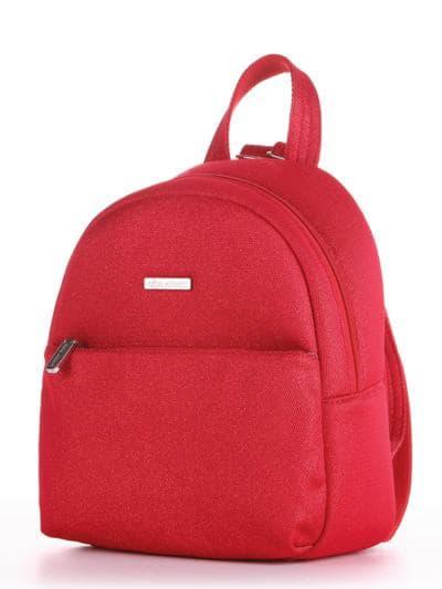 Женский рюкзак, модель 190313 красный. Фото товара, вид сбоку.