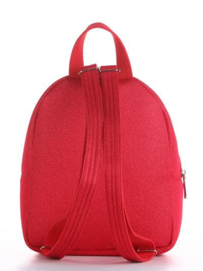 Женский рюкзак, модель 190313 красный. Фото товара, вид сзади.