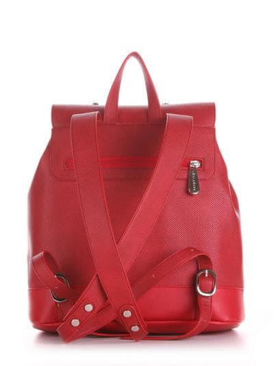 Модный рюкзак, модель 190332 красный. Фото товара, вид сзади.