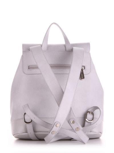 Летний рюкзак, модель 190335 светло-серый. Фото товара, вид сзади.