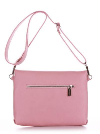 Стильная сумка маленькая, модель 190353 пудрово-розовый. Фото товара, вид сзади.