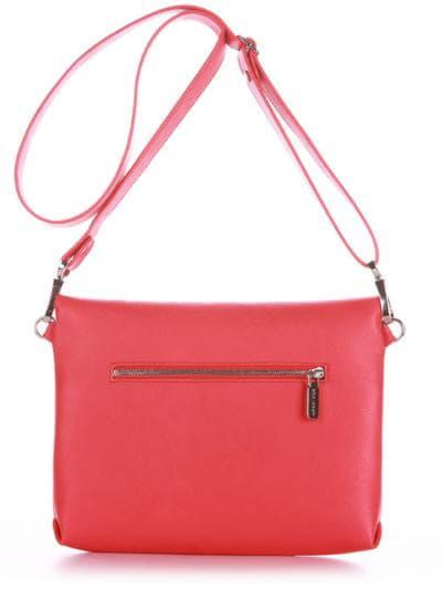 Стильна сумка маленька, модель 190354 червоний. Фото товару, вид ззаду.