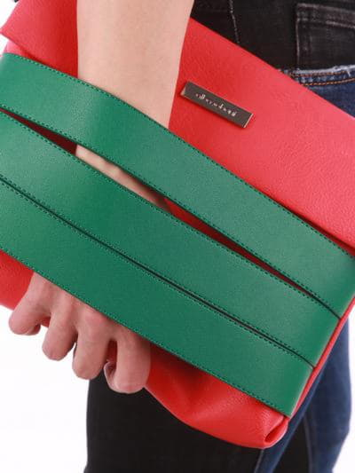 Стильна сумка маленька, модель 190354 червоний. Фото товару, вид додатковий.