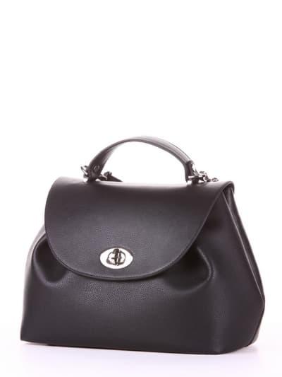 Летняя сумка, модель 190001 черный. Фото товара, вид сбоку.