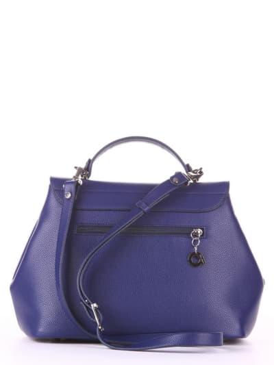 Молодежная сумка, модель 190002 синий. Фото товара, вид сзади.