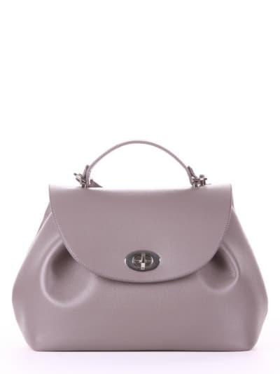 Летняя сумка, модель 190004 темно-серый. Фото товара, вид спереди.
