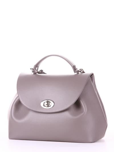 Летняя сумка, модель 190004 темно-серый. Фото товара, вид сбоку.