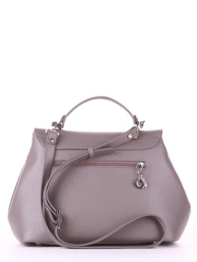 Летняя сумка, модель 190004 темно-серый. Фото товара, вид сзади.