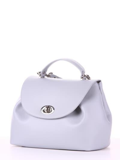 Летняя сумка, модель 190005 светло-серый. Фото товара, вид сбоку.