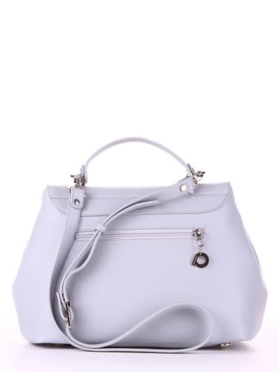 Летняя сумка, модель 190005 светло-серый. Фото товара, вид сзади.