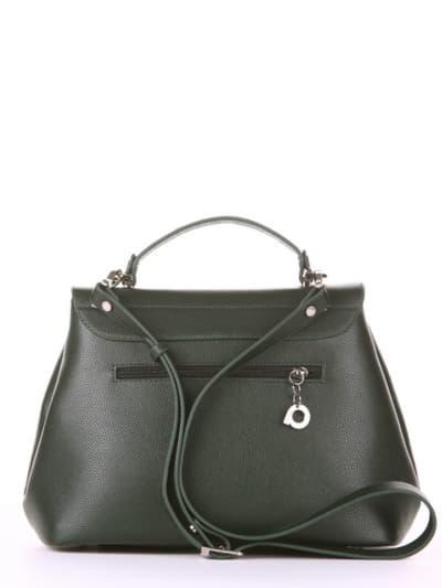 Брендовая сумка, модель 190007 темно-зеленый. Фото товара, вид сзади.