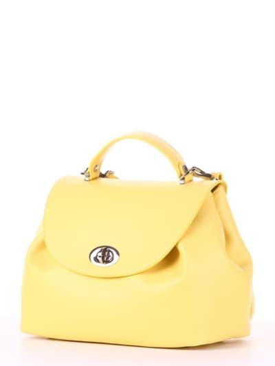 Стильная сумка, модель 190008 желтый. Фото товара, вид сзади.