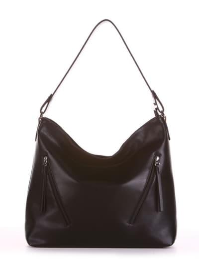 Брендовая сумка, модель 190011 черный. Фото товара, вид спереди.