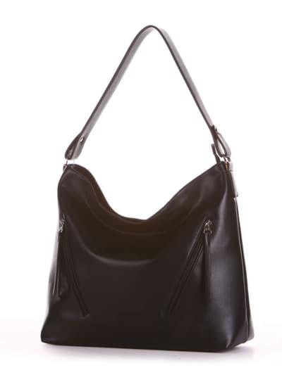 Брендовая сумка, модель 190011 черный. Фото товара, вид сбоку.