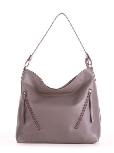 Летняя сумка, модель 190014 темно-серый. Фото товара, вид спереди.