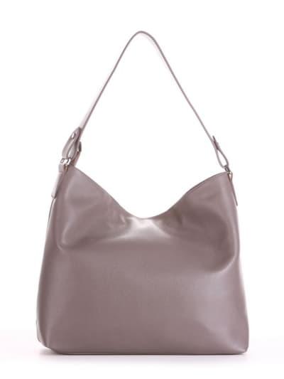 Летняя сумка, модель 190014 темно-серый. Фото товара, вид сзади.