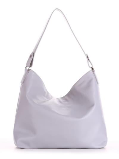 Брендовая сумка, модель 190015 светло-серый. Фото товара, вид сзади.