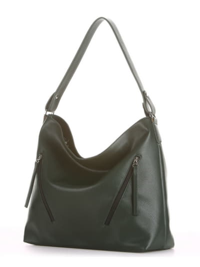 Летняя сумка, модель 190017 темно-зеленый. Фото товара, вид сбоку.