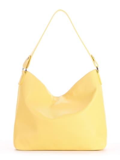 Летняя сумка, модель 190018 желтый. Фото товара, вид сзади.
