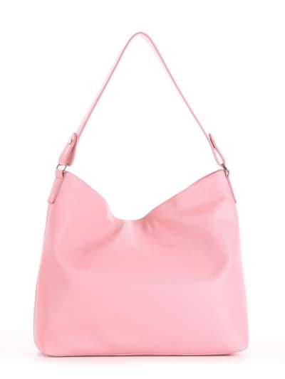Летняя сумка, модель 190019 пудрово-розовый. Фото товара, вид сзади.