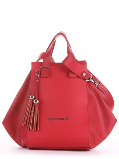 Летняя сумка, модель 190022 красный. Фото товара, вид спереди.