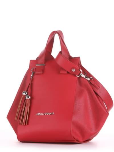 Летняя сумка, модель 190022 красный. Фото товара, вид сбоку.