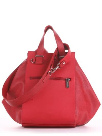 Летняя сумка, модель 190022 красный. Фото товара, вид сзади.