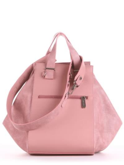 Летняя сумка, модель 190023 роза. Фото товара, вид сзади.