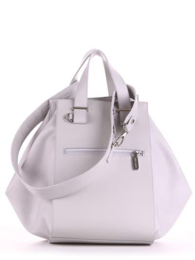 Брендовая сумка, модель 190025 светло-серый. Фото товара, вид сзади.