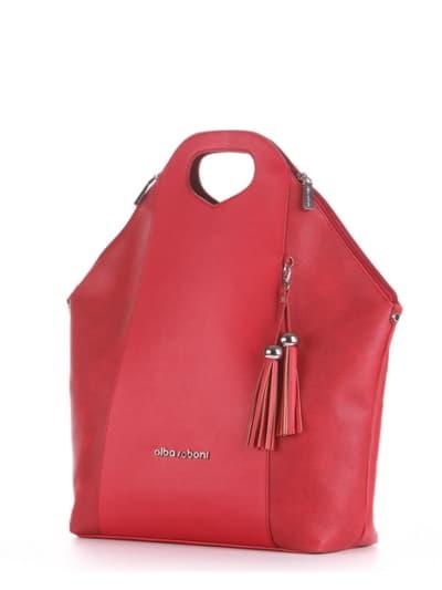 Літня сумка, модель 190032 червоний. Фото товару, вид ззаду.