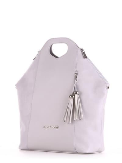 Летняя сумка, модель 190035 светло-серый. Фото товара, вид сбоку.